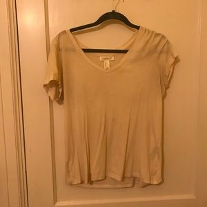 Forever 21 Creme Colored T-shirt